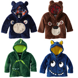 Wholesale QingDao Factory Kid s Clothing Winter Baby Coat Carton Embroidery Boys Hoodies Coat Baby s Jacket With Cap Children Outwear QZ323