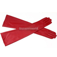 Wholesale 50pcs Women Ladise Opera Evening Party Long Pu Leather Fashion Over Elbow Arm Gloves fx210
