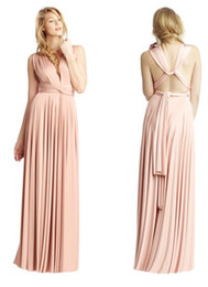Wholesale New Elegant Bridesmaid Dress Over Ways to Wrap Formal Evening Gown prom dresses backless evening dress Party Dresses Size