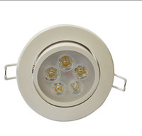 5w Yes LED LED DownLight Dimmable CREE 5W items White shell 450-600LM Bathroom living room kitchen light
