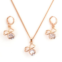 Wholesale NEW Arrival Jewelry Set Women Heart Necklaces Earring Bridal Costume Jewellery Sets