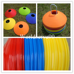 Wholesale 10pcs Set Space Markers Cones Soccer Football Ball Training Equipment Soft Plastic Sporting Goods