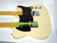 Solid Body 6 Strings Mahogany New Arrival Cream Telecaster Double Neck Electric Guitar Wholesale Free Shipping