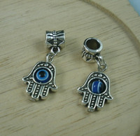 Charms antique eyes - Hot Antique Silve Hamsa Hand EVIL EYE Kabbalah Good Luck Charm Pendant x13mm b207