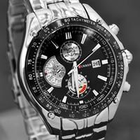 Unisex auto calendars - Luxury Curren Celebrity White Master Date Calendar Water Resist Sports Men Watch