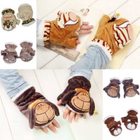 Wholesale Cute Winter Warm Plush Animal Design Gloves Mittens For Child Christmas Gifts Style Choose DLM