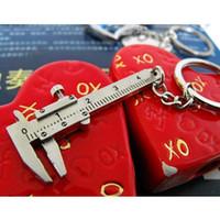 Wholesale S5Q Fashion Lovely D Movable Vernier Caliper Model key Chain key Ring Keyfob NEW AAACBT