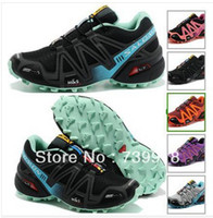 Wholesale 2014 Salomon Men shoes running shoes zapatillas Promotion Best Women SALOMON SpeedCross CS Tenis Hiking Shoes salomon sneaker Tennis