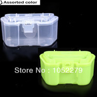 Cheap Free shiping!Plastic Live Earthworm Fishing Tackle Box Bug Shrimp Bait Box for Fishing - Color Assorted HHF-116246