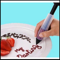 Wholesale New Cake Biscuit Cookie Pastry Icing Decoration Syringe Chocolate Plate Pen Food Writing Pen