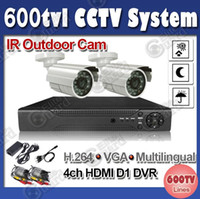 Wholesale CCTV System ch Full D1 HDMI Network DVR Recorder tvl IR Outdoor Camera Security System