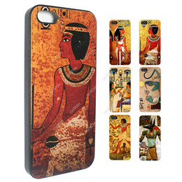Wholesale S5Q Vintage Egypt Tribal Art Hard Cover Back Skin Couple Case For iPhone S AAACSN