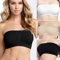 Wholesale Ladies Women Comfort Strapless Bandeau Crop Top Bra Boob Tubes S XXL nx91