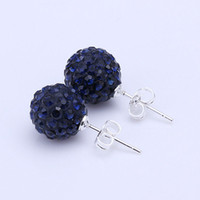 Wholesale New Style mm Handmade Disco Ball Beads Cute Gift Crystal Shamballa Earring Fasion jewelry Earring SBE046