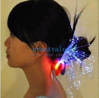 Wholesale 2014 NEW New Fiber Silk Braid Hairpin LED Light Hair Multicolor Party Hair Decoration for Christmas