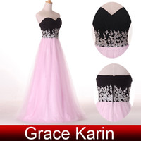 Wholesale Beautiful Appliques Corset Bodice Formal Evening Dress Ball Gown Prom Chiffon Tulle CL4415
