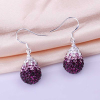 Wholesale New Style mm Handmade Disco Ball Beads Cute Gift Crystal Shamballa Earring Fasion jewelry Earring SBE057