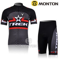 Wholesale Newest outdoor Cycling Kit set Road Bicycle wear suit TREK Cycling wear Short Sleeve black cycling jersey
