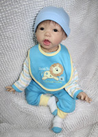 Unisex Birth-12 months Vinyl Free shiping NEW Vinyl & Silicone Reborn HOT 20 inch Ultra Lifelike Reborn Baby Girl Doll for children