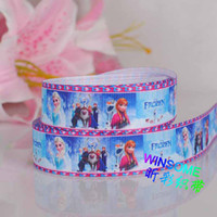 Wholesale 10 yards quot mm Frozen princess girl cartoon printed grosgrain ribbon