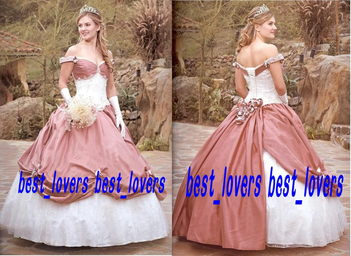2014 Custom Made Victorian Ball Gown Wedding Dresses