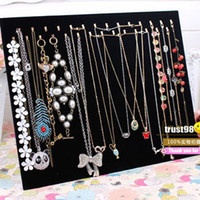 Wholesale Black Velvet Necklace Pendant Display Can Print Logo cheap vintage fashion jewelry Holder Rack stand discount