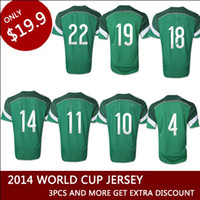 Wholesale Top Thail Quality Jersey Word Cup Mexico home official player version soccer jersey green