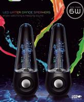 Precio de Polivinílico-Dancing agua de altavoces de música de audio 3.5mm USB LED luz gota de agua para iPhone iPad iPod portátil PSP MP3 MP4 jugador Tumbler Roly-poly estilo