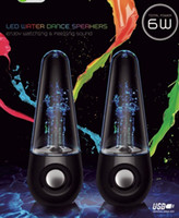 2 Universal General Dancing Water Speaker Music Audio 3.5MM USB LED Light Water-drop Show for iPhone iPad iPod Laptop PSP MP3 MP4 Player Tumbler Roly-poly Style