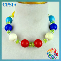 Wholesale Easter Day Bby Cunky Ncklace Design Chunky necklace baby colorful necklace dhl Free