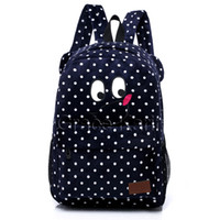 Wholesale GK Women Flannelette Polka Dots backpack Rucksack Shoulders bag Satchel GZ593