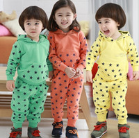 Spring / Autumn kids sweat suits - 10 Set New Fashion Unisex Baby Kids Stars Cotton Blended Outfit Outwear Leisure Suit Sport Suit Sweat Suit For Spring Autumn Winter