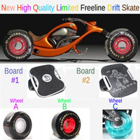 Wholesale New Drift Skates Freeline Skates Aluminium Deck Board Upgrade Wheel AssemblyFlash Wheel Different Assembly Fedex