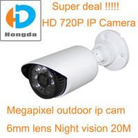 Wholesale Super deal HD P Megapixel mini IP Cam outdoor mm array ir led night vision M Home security cctv cameras Motion detection POE