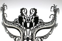 Luxury Women Metal Mask with Rhinestone for Venetian Masquer...