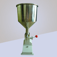 Wholesale ML manual paste liquid filling machine with hopper for cream shampoo and cosmetic