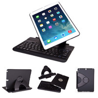 9.7'' 360 keyboard case - Detachable Bluetooth Keyboard Case Degree Rotating Keyboard Case Stand for Apple iPad Air QWERTY Keypad Black