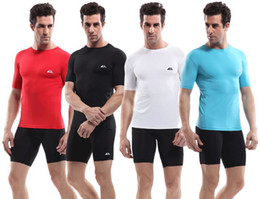 Wholesale Mens Body Sports Fit Armour Compression Base layer Quick dry Under Shirts Top Skin Top Quality color