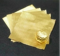 aluminum foil embossing - Gold Red chocolate wrapping tin foil covered chocolate candy aluminum foil Embossing paper cm
