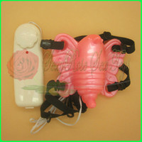 Wholesale Jelly butterfly vibrator stimulators clitoris strap on Sex Toy Sex products Adult toy
