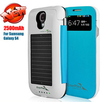 Wholesale AAA Top mAh Solar Battery Case for i9500 S4 S IV Mobile Charger Power Bank Cellphone Charger DHL ship