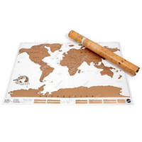 Wholesale S5Q Personalized Scratch Off Map World Map Poster Traveler Vacation Log Gift AAACSX