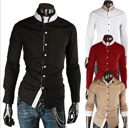 Wholesale New Arrival Brand Korea Style Fashion Men casual shirts slim fit stylish mens dress shirts colors M XXL