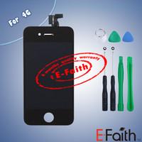 Pour iPhone 4 GSM noir tactile écran LCD digitizer remplacement avec outils ouverts Livraison gratuite
