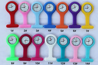 Wholesale 800pcs Multi colors nurse brooch Fob tunic watch silicone cover nurse watches DHL