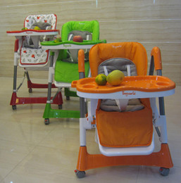 Wholesale Luxury Baby Chair For Feeding Aluminum Alloy and Plastic Material Adjustable Baby Dining Chair Folding Chair For Feeding