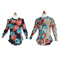 Wholesale 10 New Fashion Baby Girl Vintage Flower Pile coating Thicken Cotton Blended long Sleeve Dress Clothing For Spring Autumn Winter