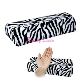 Wholesale New Zebra Stripe Soft Hand Cushion Pillow Rest for Nail Art Manicure Half Column