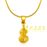 Wholesale Over a hundred women s gold plated necklace bride wedding alluvial gold plated gold jewelry gourd Yi Gu necklace