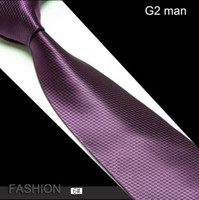 Wholesale NEW man s ties purple necktie G2 man Men s fashion cravat neckwear148 cm Fashion Accessories H
